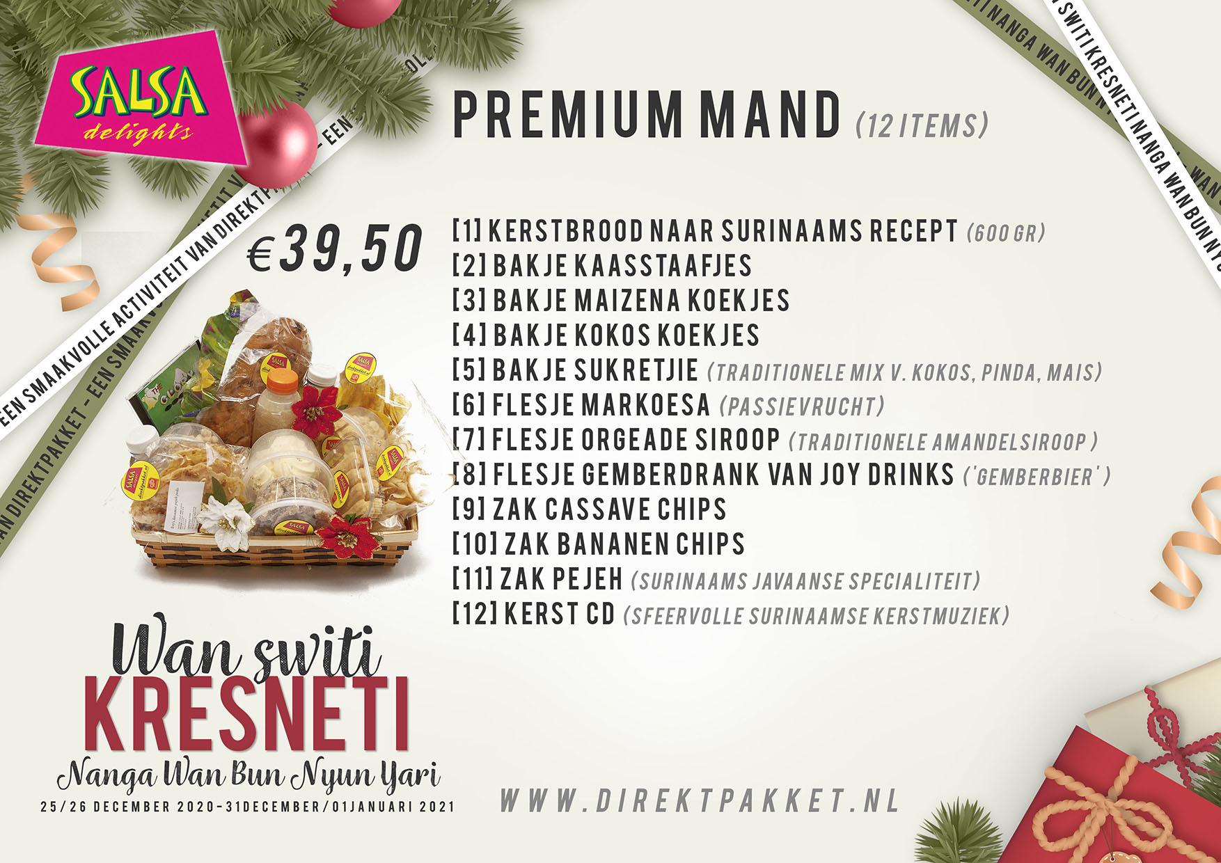 Label Inhoud Premium kerstpakket A5