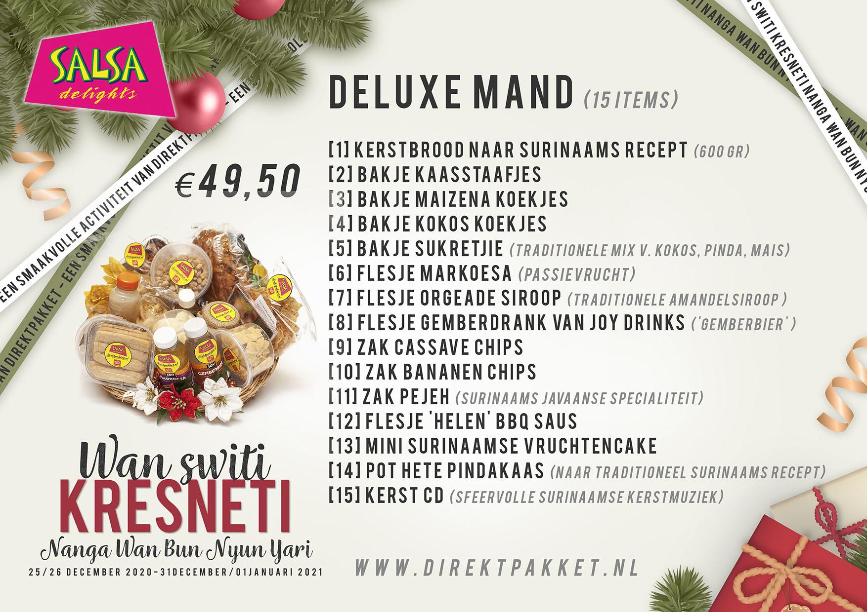 Label Inhoud deLuxe kerstpakket A5